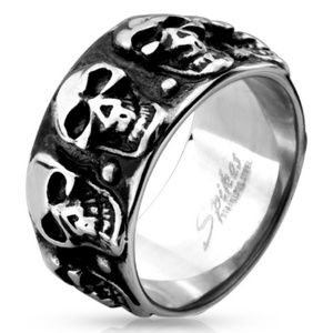 Stainless steel skull ring/band